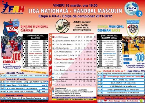 Dinamo Calarasi – Stiinta MD Bacau (vineri ora 19:00) la Digi Sport.