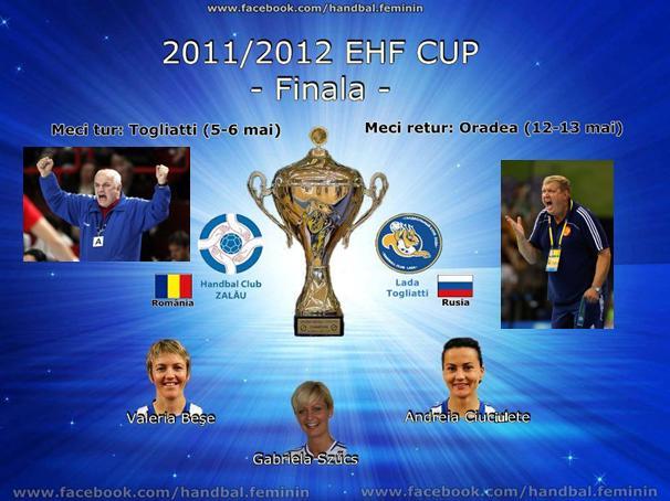 HC Zalau – Lada Togliatti in Finala Cupei EHF 2012 se va disputa cu Trofeul pe masa in Romania!