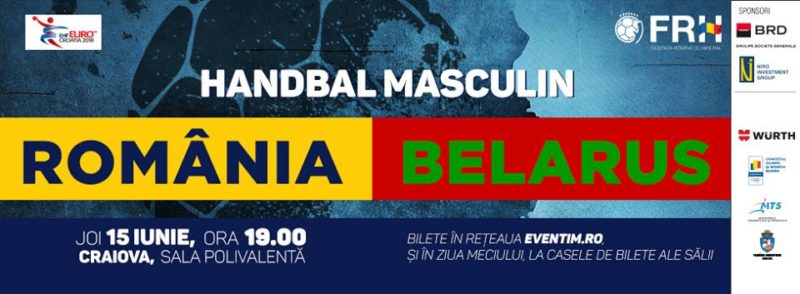 Handbal masculin ROMANIA – BELARUS live text pe chat-ul eurohandbal.ro