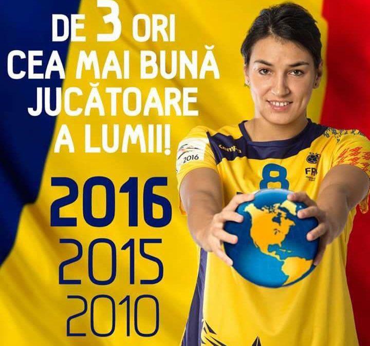 Cristina Neagu pentru a 3-a oară desemnată cea mai bună handbalistă a lumii!